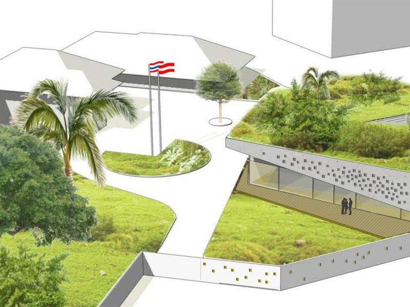 Idealice_botschaft_bangkok _Perspektiv (Visualisierung: Caramel Architekten)