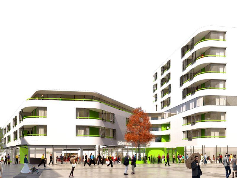 idealice_Quartiershaus Hauptbahnhof Bauplatz 20A_(Visualisierung: sandbichler architekten zt gmbh)