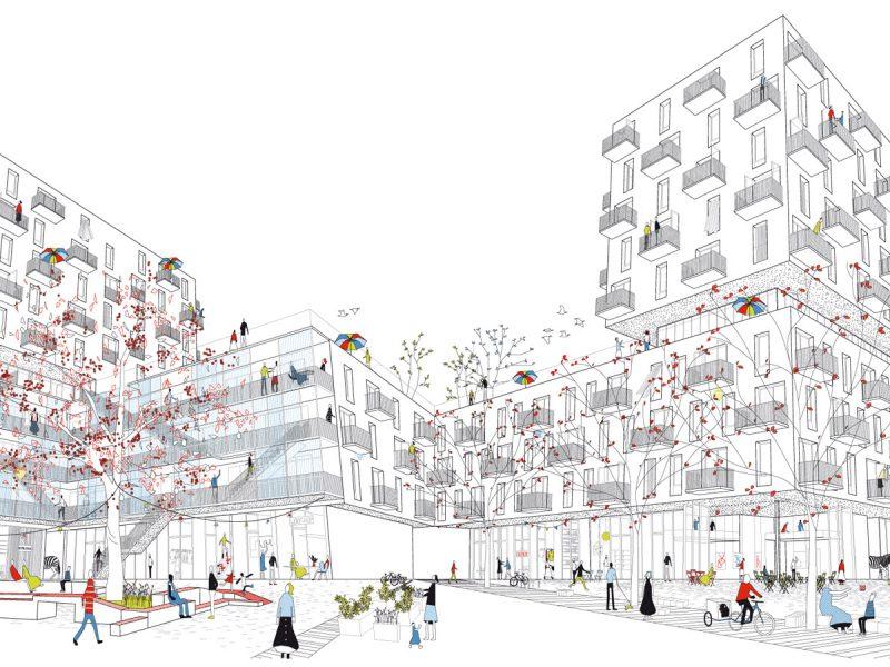 idealice_Quartiershaus Hauptbahnhof Bauplatz 17A (Visualisierung: Studiovlay)