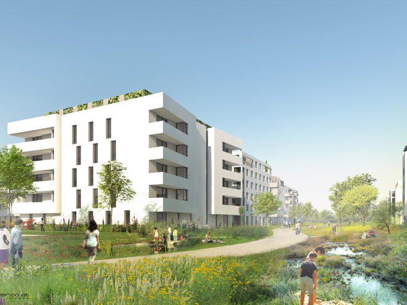 idealice_Wohnen am Marchfeldkanal_Parkband_(Visualisierung: beyer)